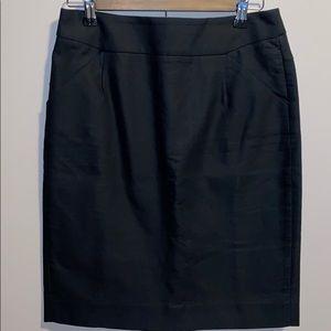 J.Crew The Pencil Skirt Black SZ 4